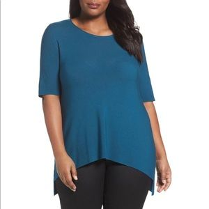 Eileen Fisher Tencel Tunic in Blue Nile Knit Teal